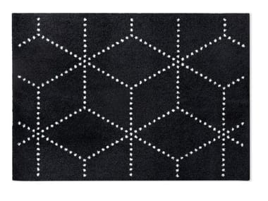 Tapete geométrico de material reciclado HAGL BLACK