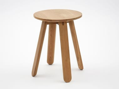 Low wooden stool HALF FULL