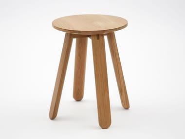 Low wooden stool HALF FULL
