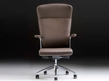 Executive chair with 5-spoke base with armrests HALFPIPE | Executive chair with armrests