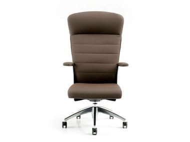 Executive chair with 5-spoke base with armrests HALFPIPE | Executive chair with headrest