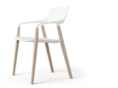 Stackable chair with armrests HALM