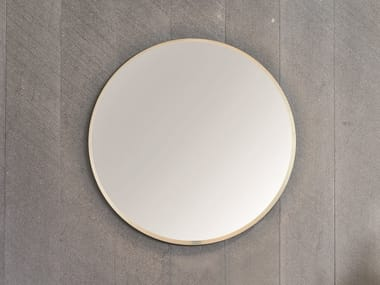 Round wall-mounted framed mirror HALO