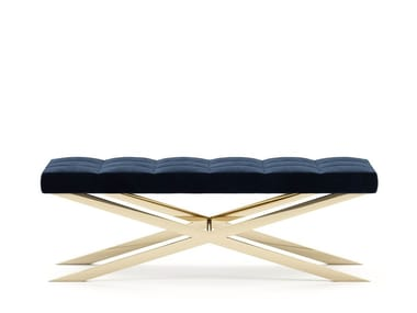 Upholstered fabric bench HALSEY | Bench