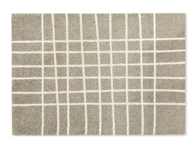 Recycled material rug with geometric shapes HAND TRAVERTINE
