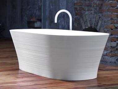 Freestanding Ceramilux® bathtub HANDMADE   Bathtub