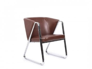 Eco-leather easy chair with armrests HANDY