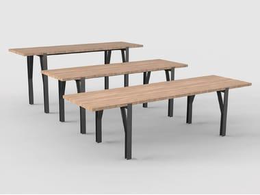 Rectangular solid wood table HANGAR