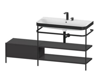 Console washbasin with towel rail HAPPY D.2 PLUS | Console washbasin