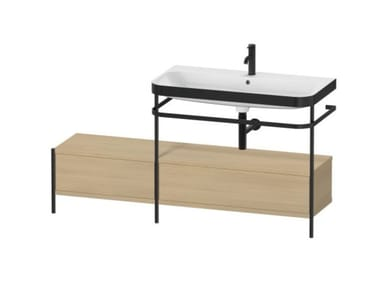 Console washbasin with drawers HAPPY D.2 PLUS | Console washbasin