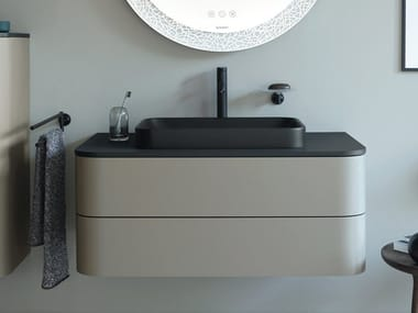Single wall-mounted vanity unit with drawers HAPPY D.2 PLUS | Single vanity unit