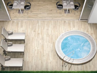 Indoor/outdoor porcelain stoneware flooring with wood effect HARD & SOFT