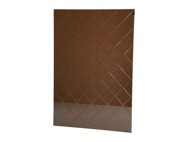 Rectangular mirror HARLEQUIN - BRONZE