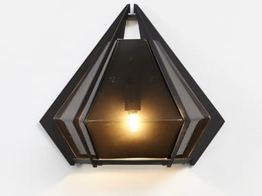 LED glass and steel wall light HARLOW | Wall light