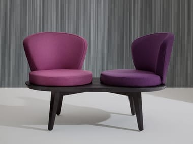 Upholstered bench with back HARMONY | Bench