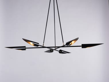 LED direct light steel pendant lamp HARMONY