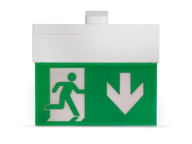 LED polycarbonate emergency light for signage HARPER 320 | Emergency light for signage