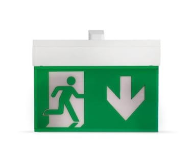 LED polycarbonate emergency light for signage HARPER 330 | Emergency light for signage