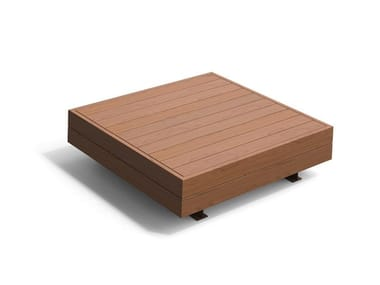 Panchina modulare in legno HARRIS ISOLA