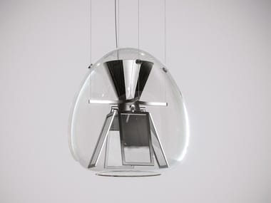 Lampada a sospensione a luce diretta in vetro soffiato HARRY H.