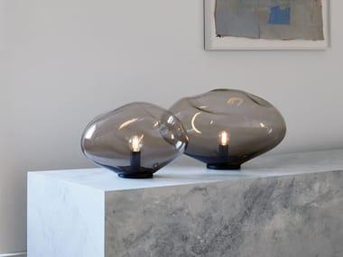 Handmade blown glass table lamp HAUMEA AMORPH | Table lamp