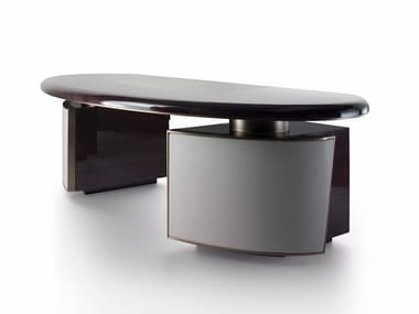 Lacquered oak writing desk HAUSSMANN | Office desk