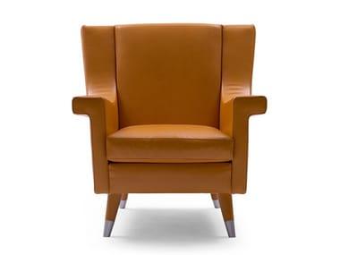 Bergere leather armchair HAVANA