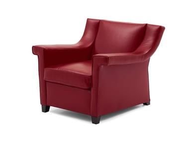 Leather armchair with armrests HAVANA LOUNGE