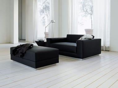 Leather armchair with armrests HAVANA   ArmchairSESANN   Armchair By Tacchini design Gianfranco Frattini. Havana Leather Armchair. Home Design Ideas
