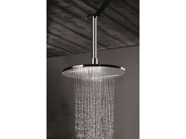 Ceiling mounted stainless steel rain shower with chromotherapy OVERHEAD SHOWERS FOR CHROMOTHERAPY | Overhead shower with chromotherapy