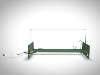 Plexiglass desktop barrier HEALTSHIELD