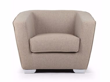 Leather armchair with armrests HEBE | Armchair