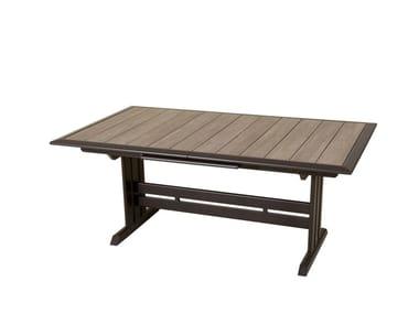 Extending HPL garden table HEGOA | Rectangular table