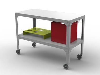Galvanized steel food trolley HEGOA   Food trolley