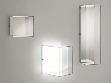 Open crystal wall cabinet with door HEIGH - HO