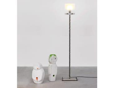 Glass and steel floor lamp HELIX - ART568 | Floor lamp