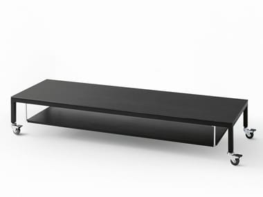 Low rectangular coffee table with casters HELSINKI 30 | Coffee table with casters