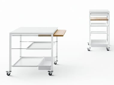 Steel food trolley with drawers HELSINKI | Food trolley