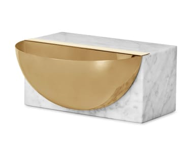 Carrara marble pin tray HEMISPHERE | Pin tray