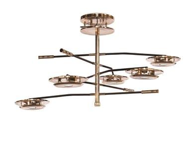 Lampada da soffitto in ottone HENDRIX | Lampada da soffitto
