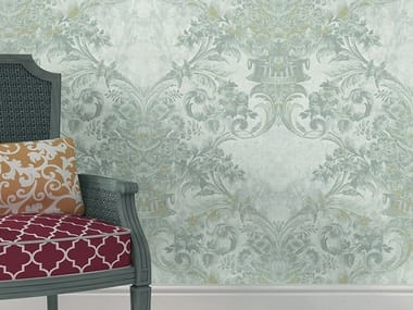 Damask vinyl wallpaper HERITAGE | Damask wallpaper