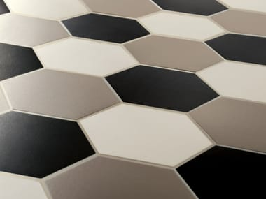 Indoor/outdoor full-body porcelain stoneware flooring HEX - HEXAGON