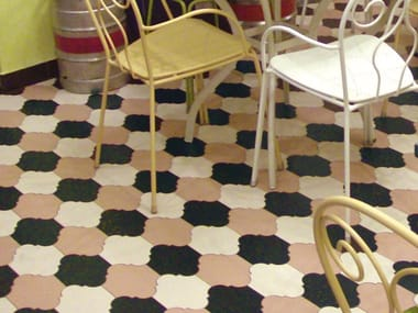 Indoor/outdoor full-body porcelain stoneware flooring HEX - PROVENCAL TILE