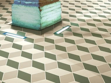 Indoor/outdoor full-body porcelain stoneware flooring HEX - RHOMB