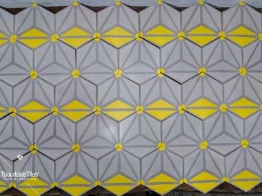 Indoor/outdoor cement wall/floor tiles HEXAGON 102