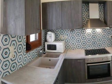 Indoor/outdoor cement wall/floor tiles HEXAGON 104