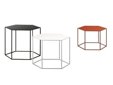 Hexagonal steel coffee table HEXAGON | Steel coffee table