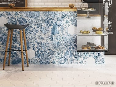 Indoor/outdoor porcelain stoneware wall/floor tiles HEXATILE