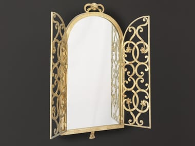 Framed wall-mounted wrought iron mirror HF2000MI | Mirror