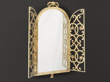 Framed wall-mounted wrought iron mirror HF2000MI | Mirror